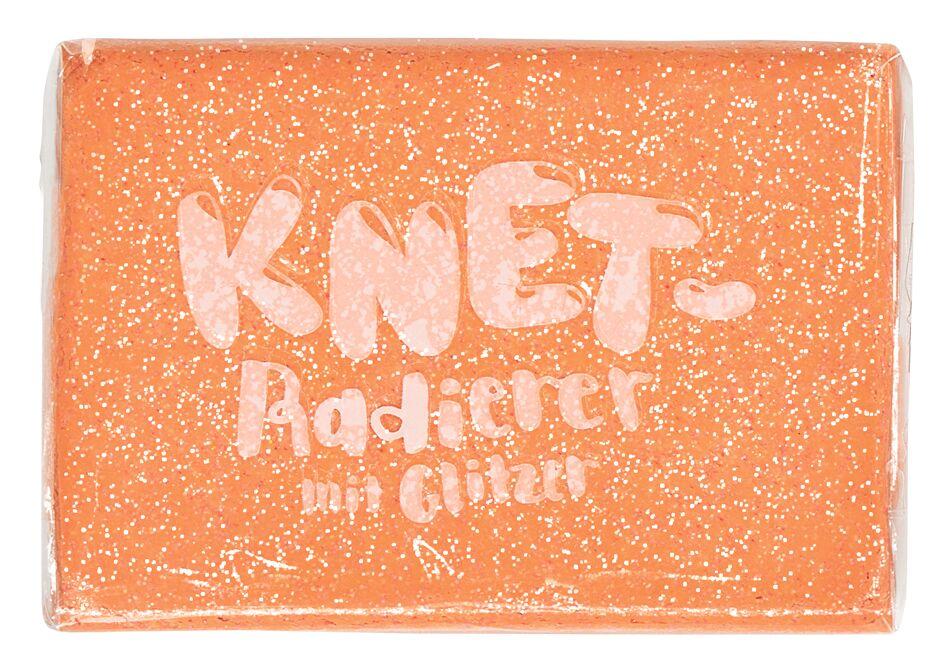 Knet-Radierer Glitzer orange