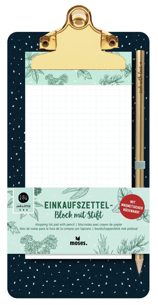 cook & STYLE Einkaufszettelblock Clipboard
