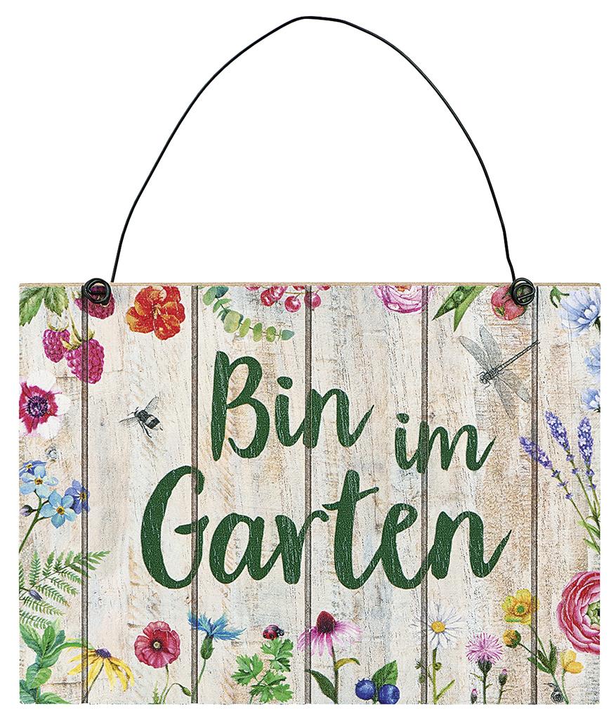 Blatt & Blüte Gartenschild Garten
