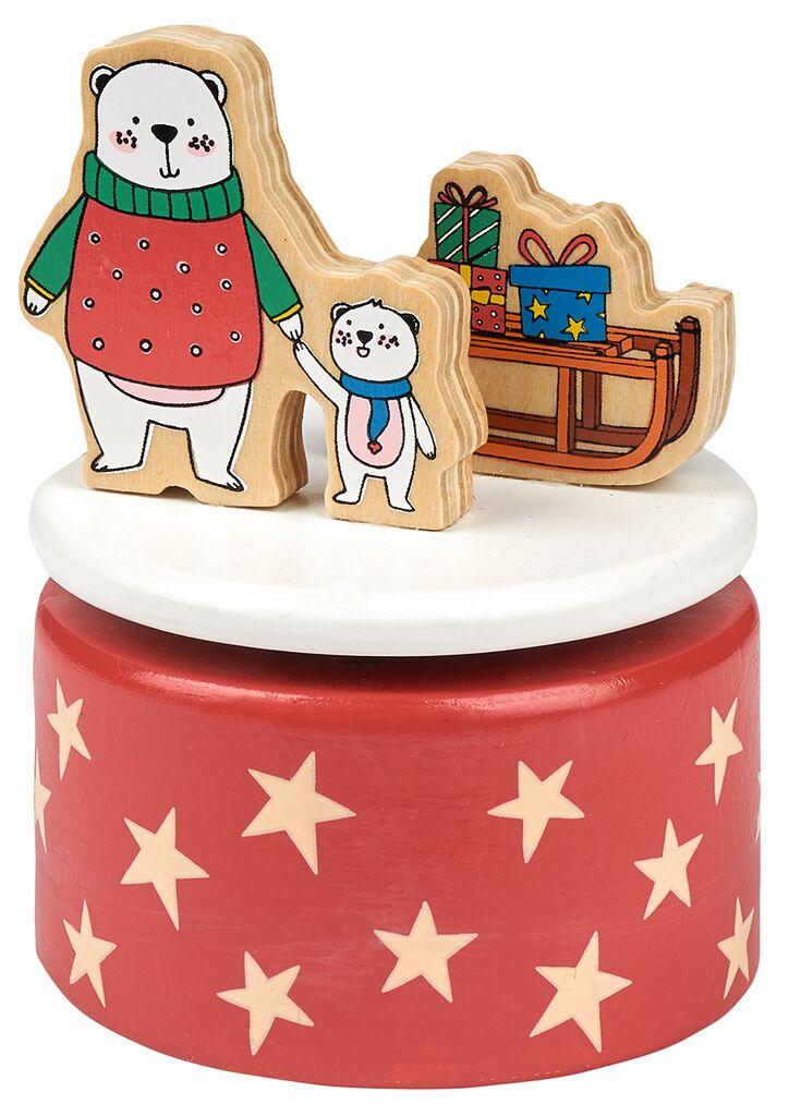 Holz-Spieluhr Weihnachtsfreunde