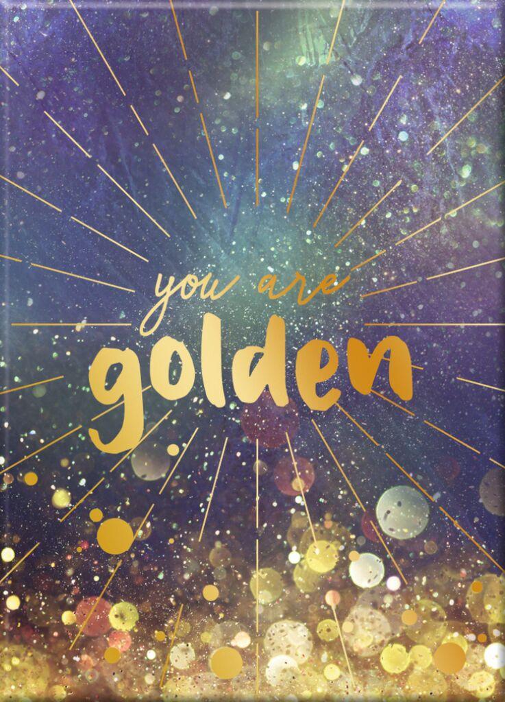 Omm for you Magnet Golden