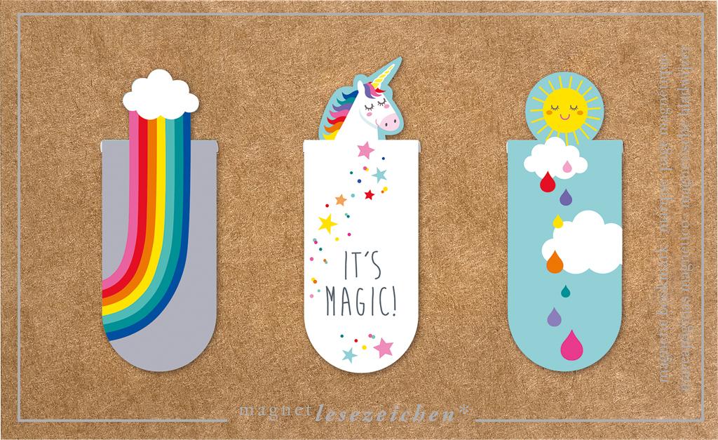 Magnetlesezeichen It's Magic Einhorn