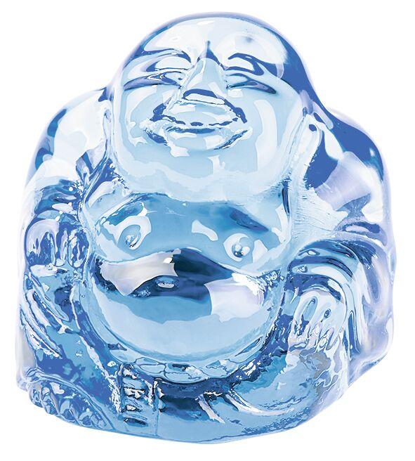 Omm for you Mini-Buddha blau