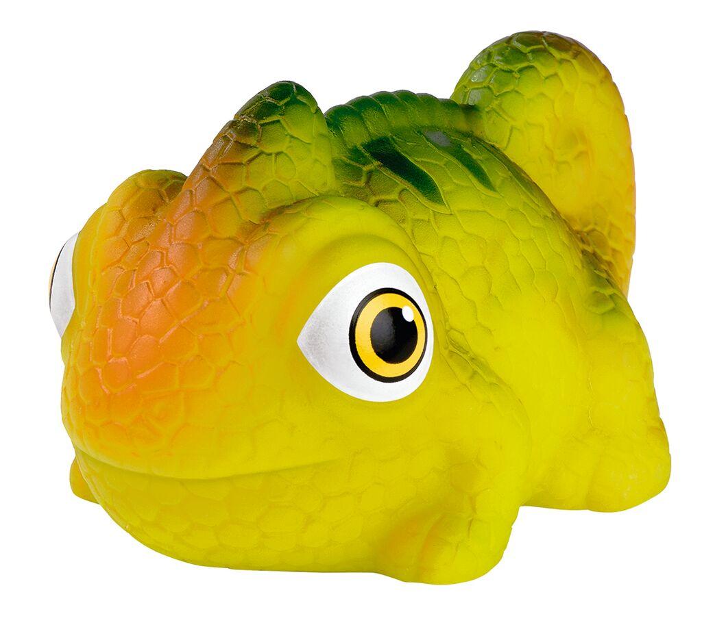 Leuchtendes Bade-Chamäleon gelb