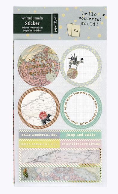 papier & feder Sticker Weltenbummler