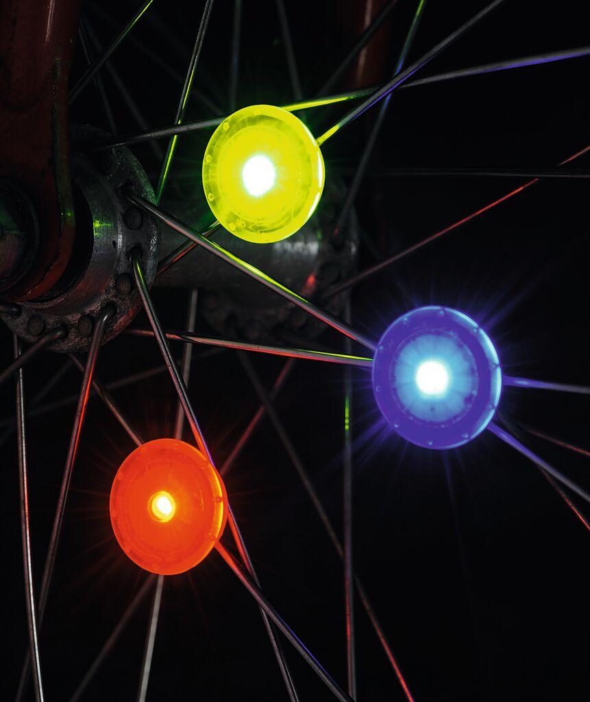 Kleine Speichenlichter LED 3er Set (versch. Farben)