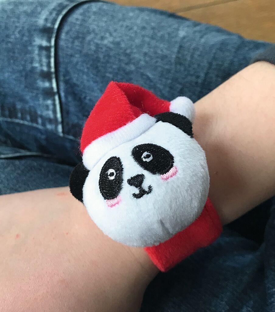 Leuchtendes Schnapp-Armband Panda