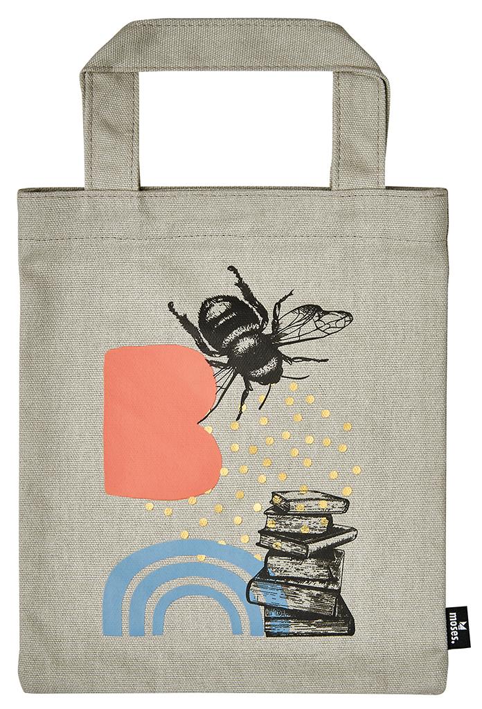 Büchertasche Bienchen & Bücher