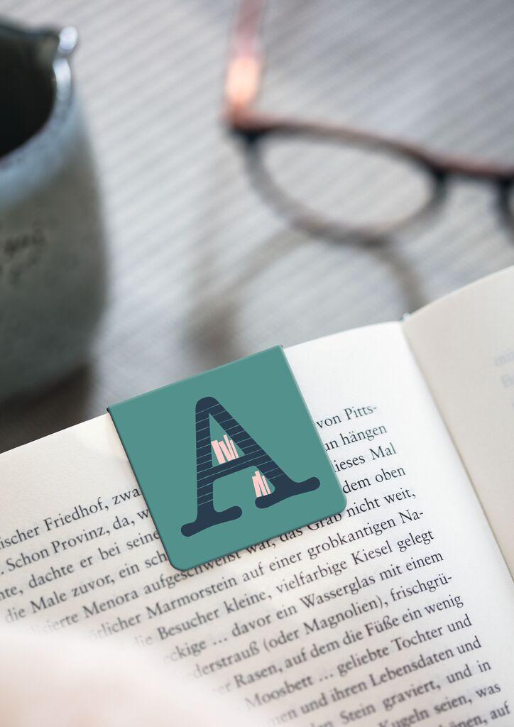 Magnetlesezeichen ABC