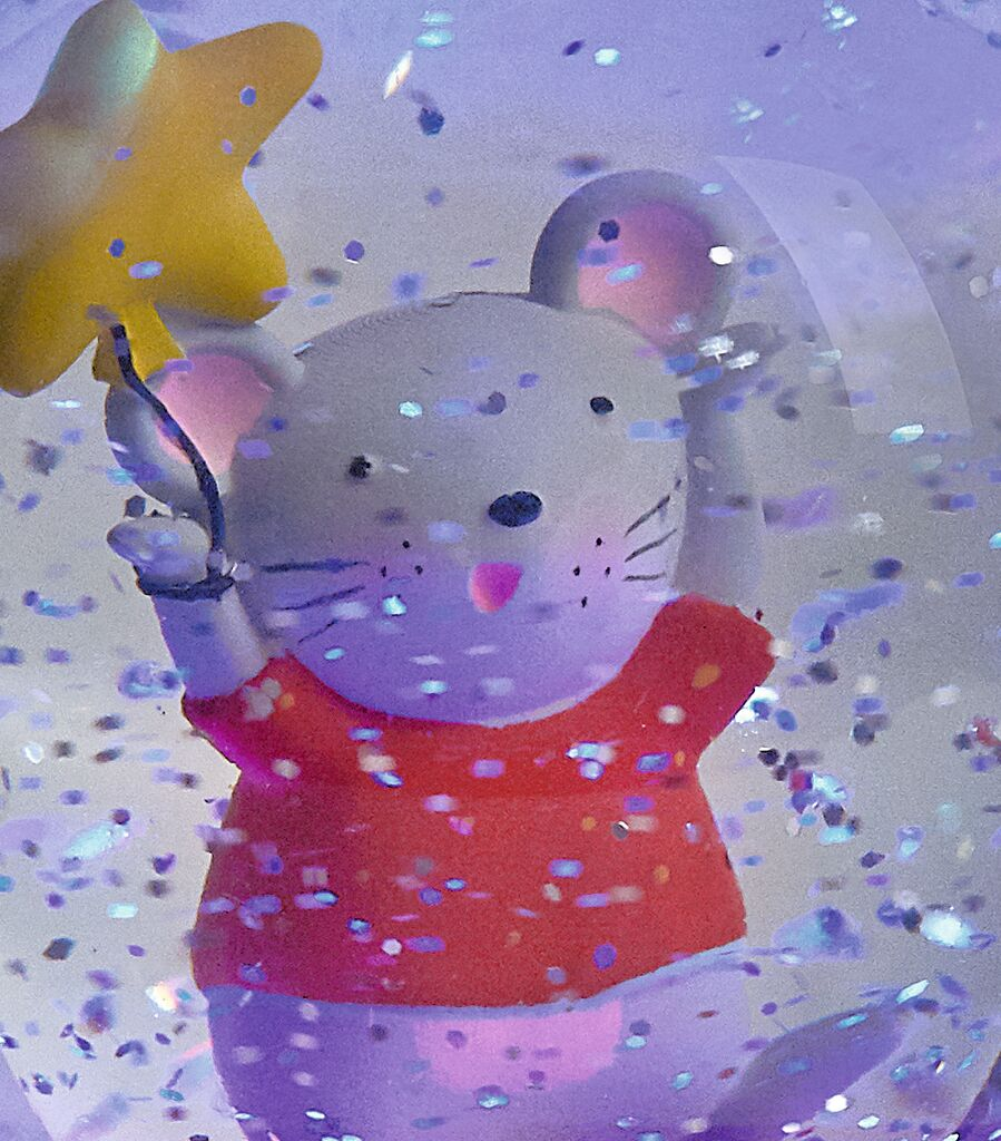 Schneekugel-Nachtlicht Mäuschen