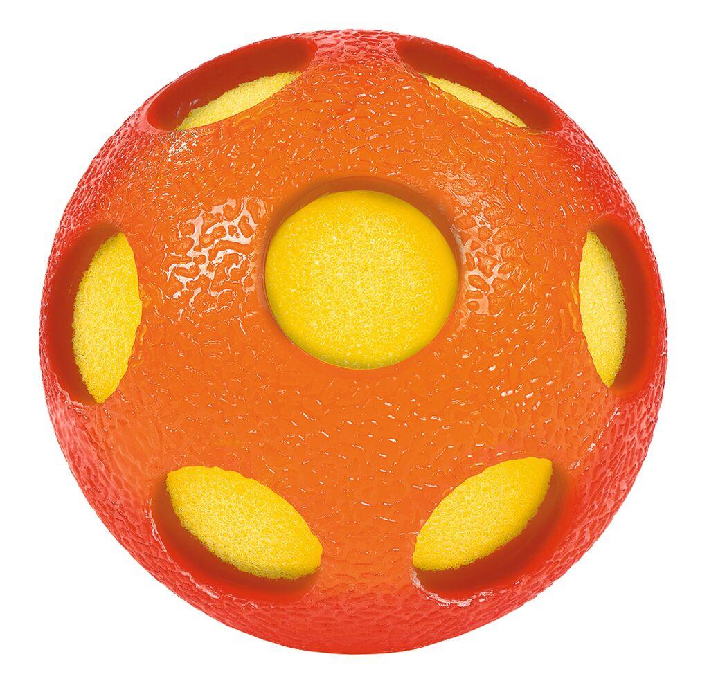 Bunter Schwamm-Ball orange