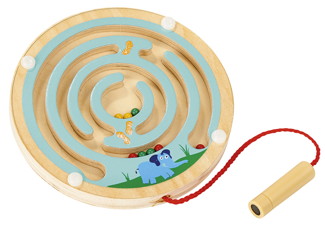 Magnetische Holz-Labyrinthe Hellblau