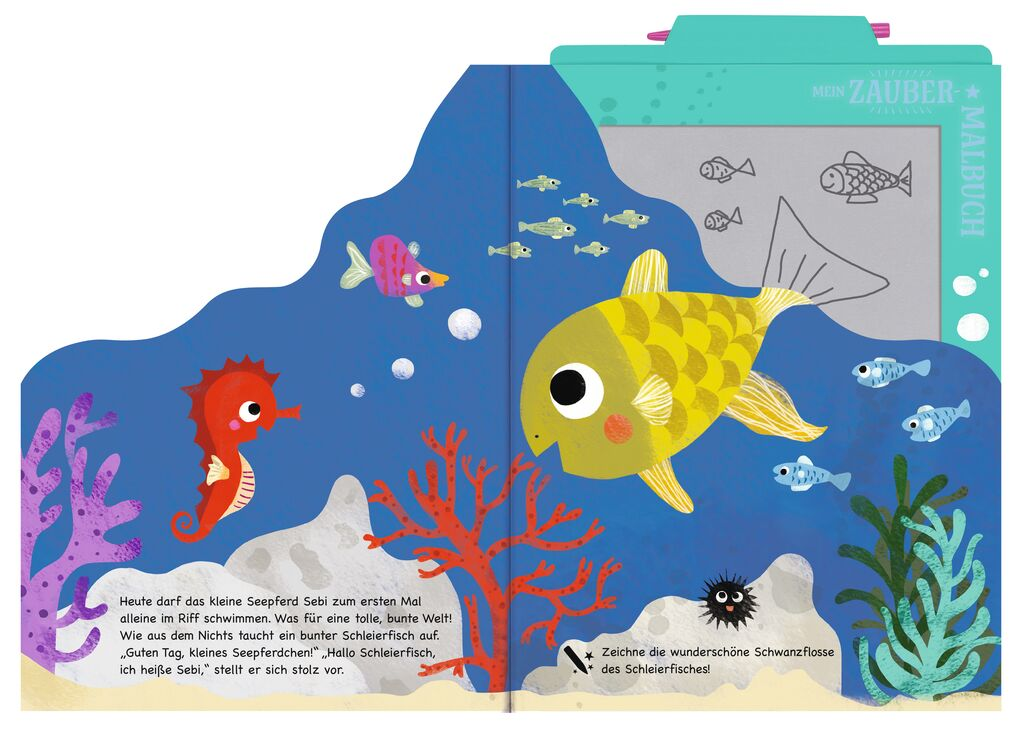 Mein Zaubermalbuch - Seepferd Sebis bunte Welt