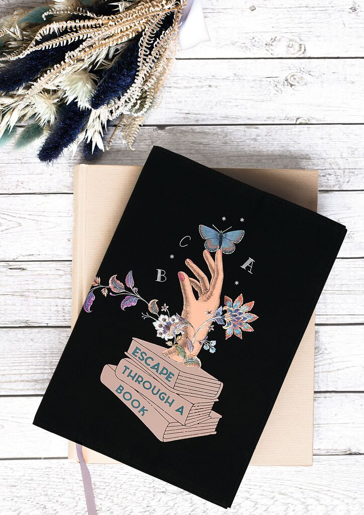 Buchumschlag Escape through a book S