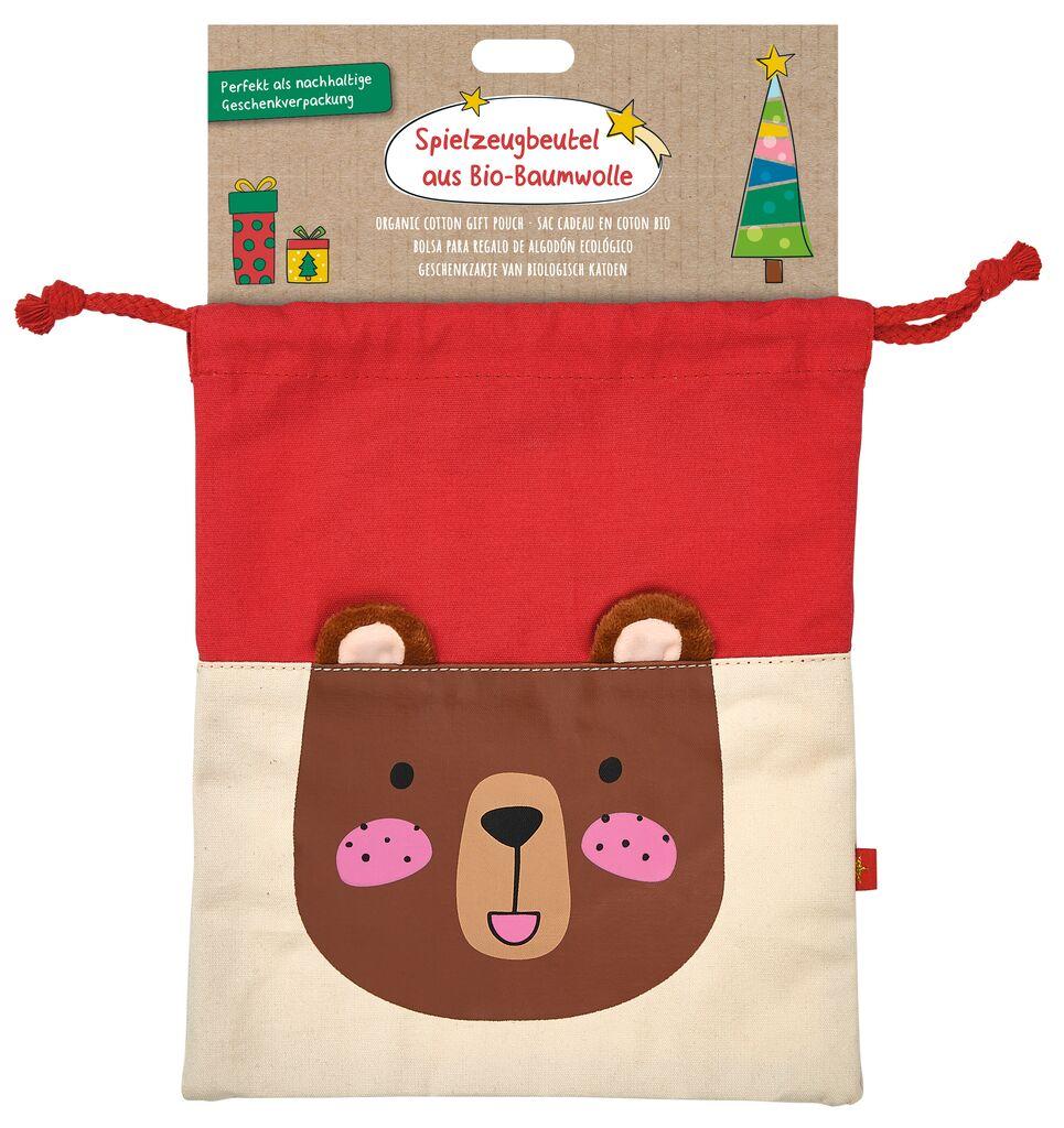 Spielzeugbeutel Weihnachtsfreunde Bär