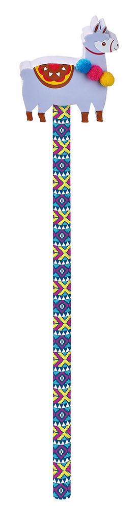 Lama-Bleistift mit Radierer violett