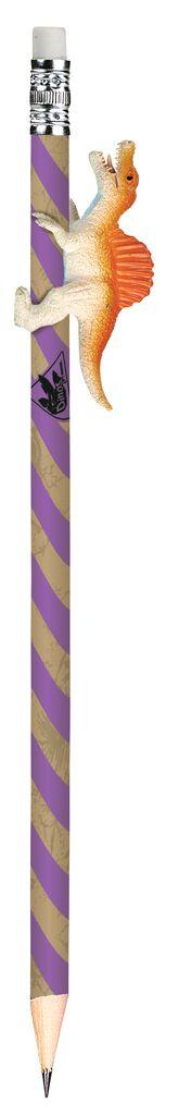 Dino-Bleistift violett