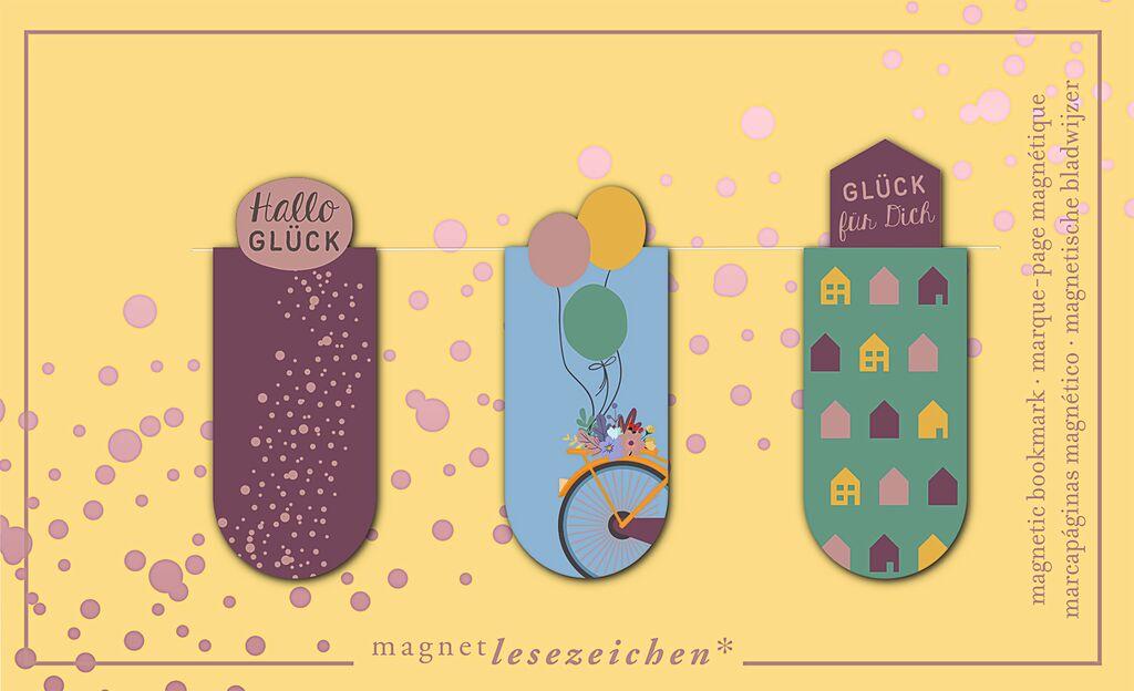 Magnetlesezeichen Glück für Dich