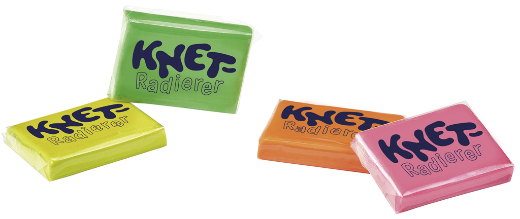 Knet-Radierer 4er Set
