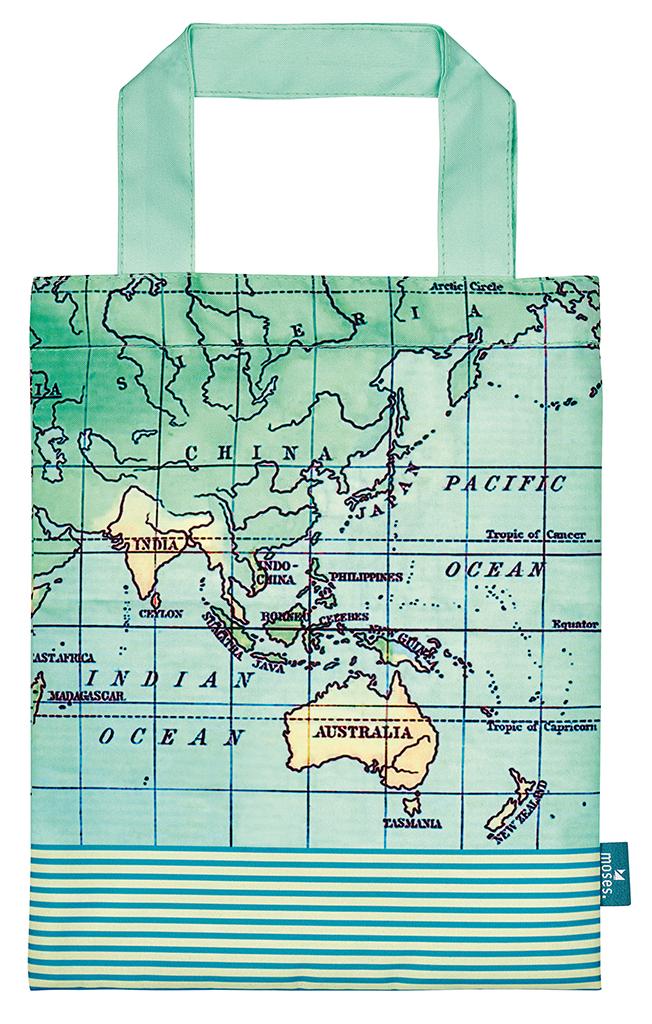 Fernweh Büchertasche Weltkarte