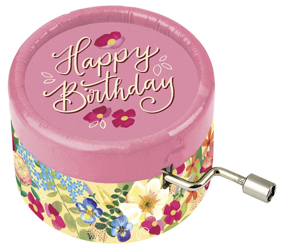 Spieluhr Happy Birthday rosa