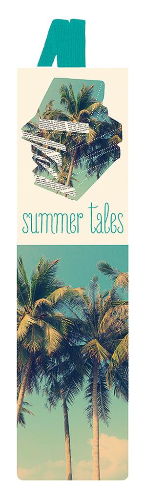 Lesezeichen mit Band Summer Tales