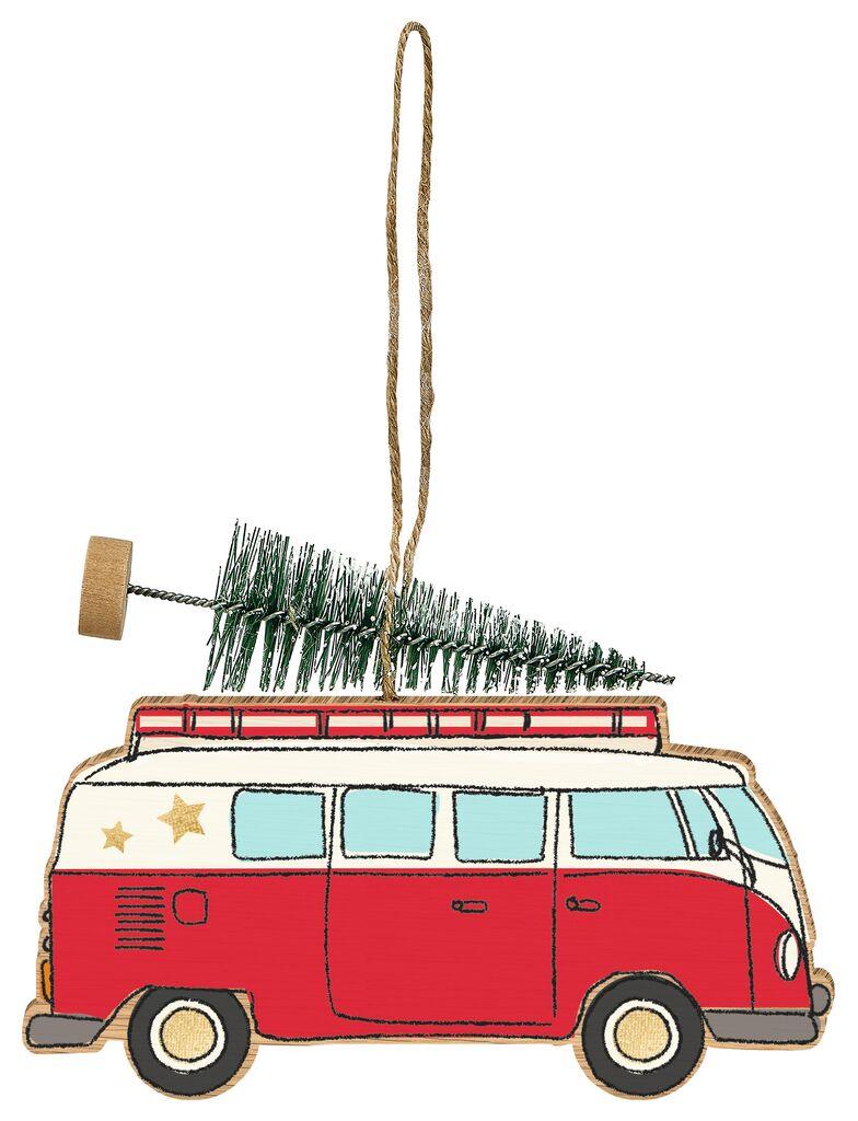Anhänger Weihnachtsauto Van
