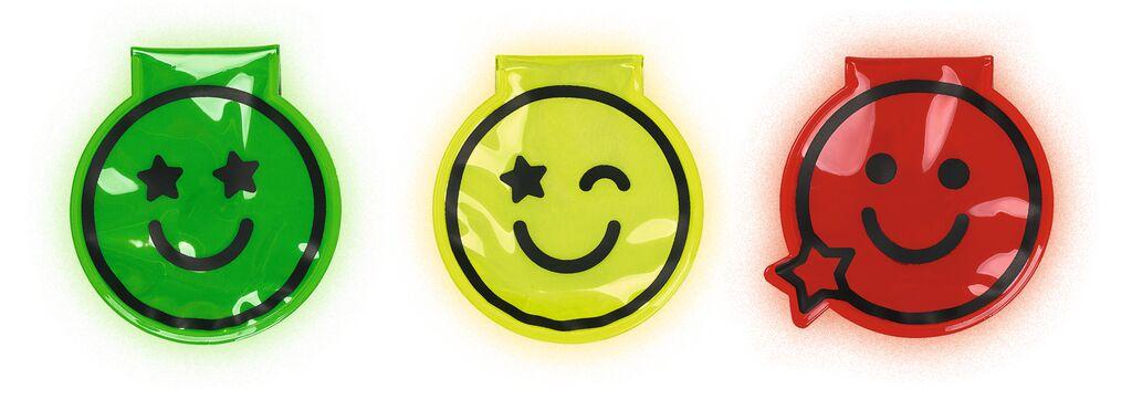 Magnet Clip mit LED Smile (versch. Farben)