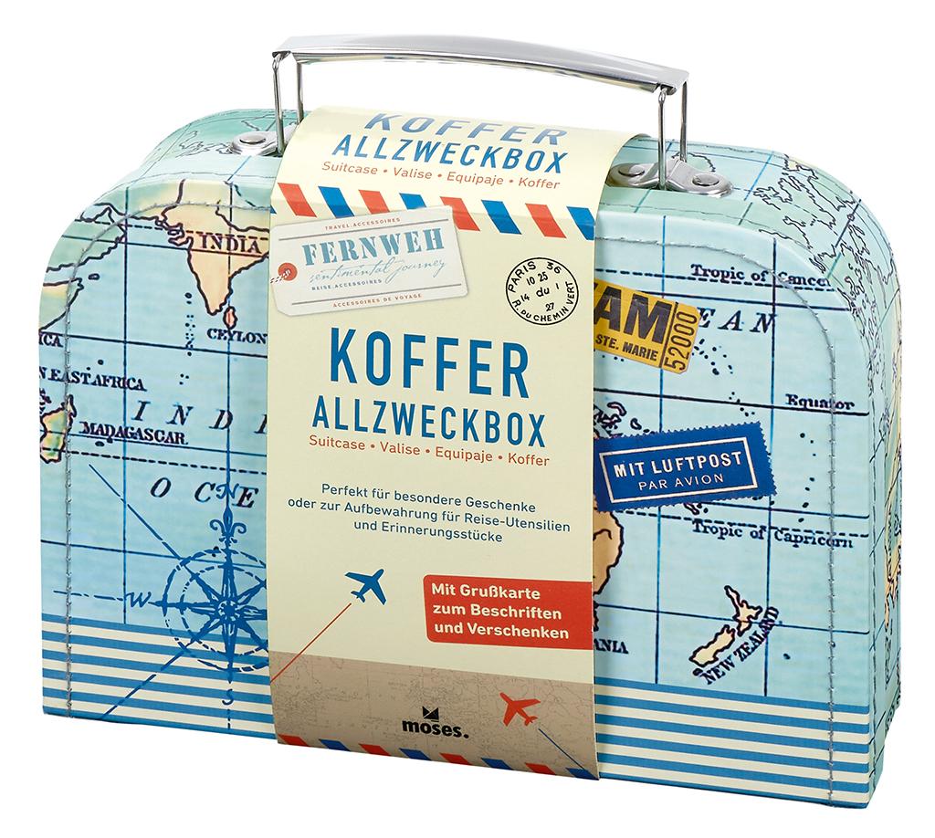 Fernweh Kofferbox für Reise-Erinnerungen