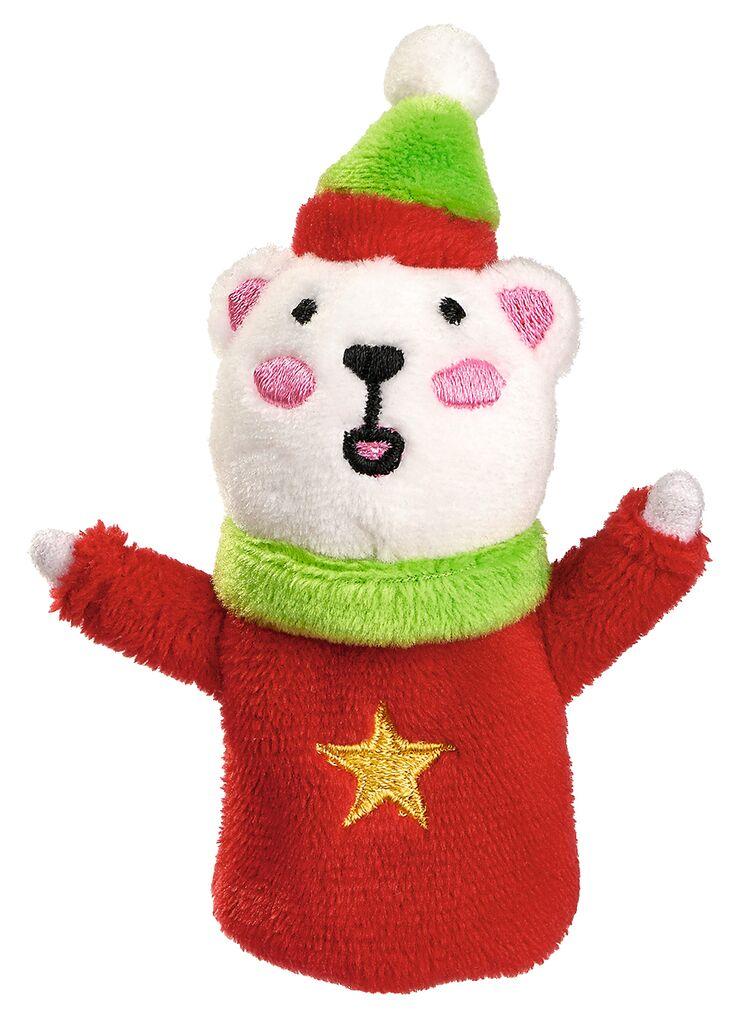 Fingerpüppchen Weihnachtsfreunde Eisbär