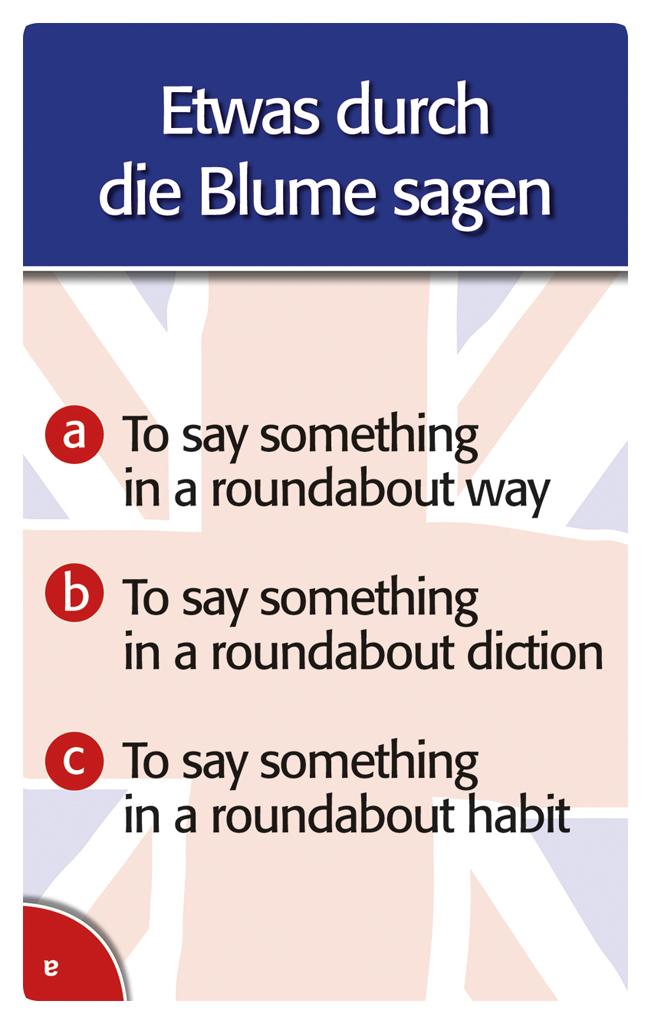 now goes me a light up - Quizspiel rund um englische Redewendungen