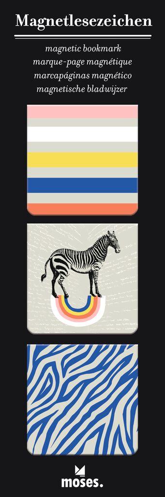 Magnetlesezeichen Zebra