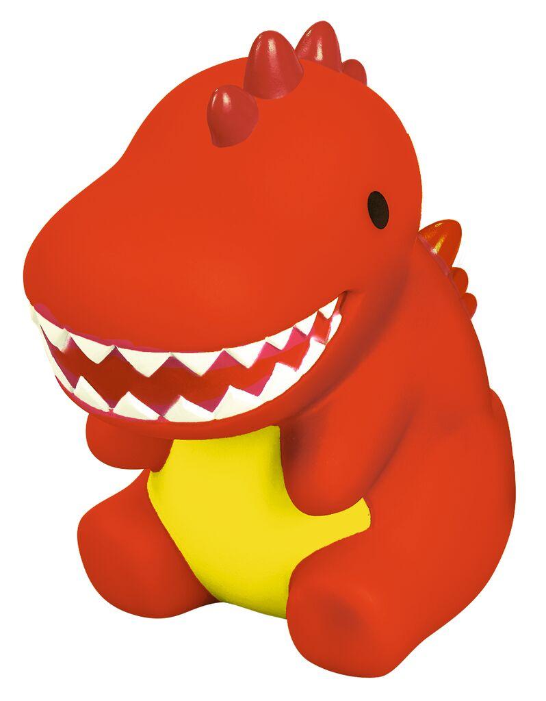 Leuchtender Bade-Dino rot