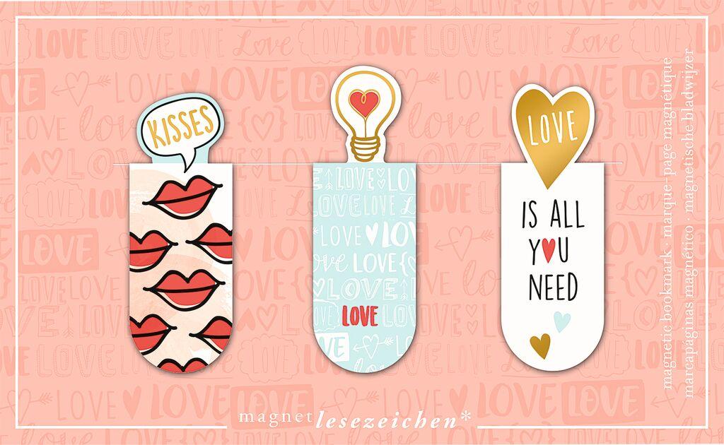 Magnetlesezeichen Love