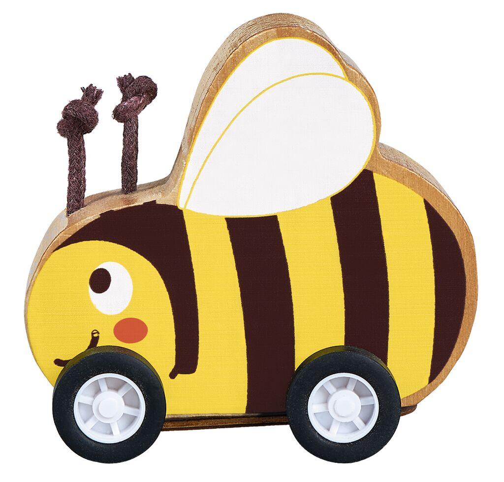 Flinkes Rückziehtier aus Holz Biene