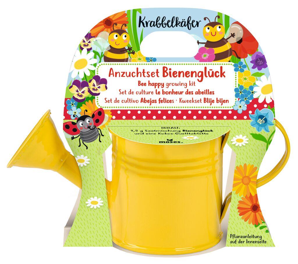Krabbelkäfer Anzuchtset Mini-Gießkanne Bienenglück