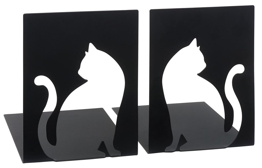 Buchstützen Katze (2er Set)