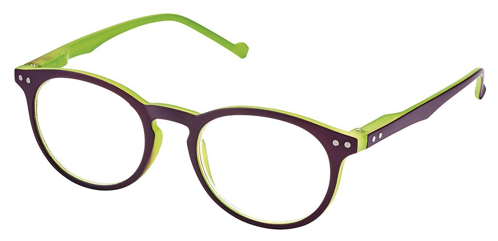 Lesehilfe Bicolor +2.0 grün-violett
