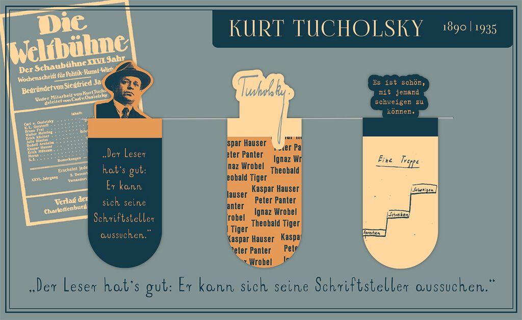 Magnetlesezeichen Kurt Tucholsky