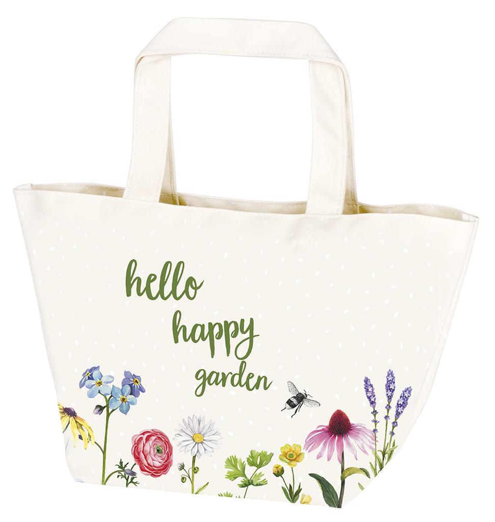 Blatt & Blüte Gartentasche weiß
