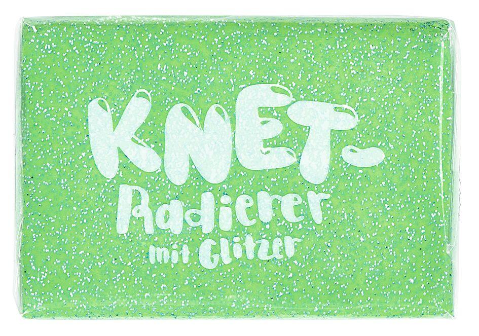 Knet-Radierer Glitzer grün