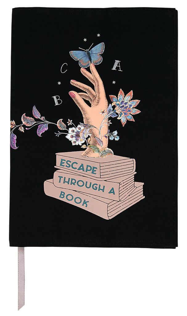 Buchumschlag Escape through a book L