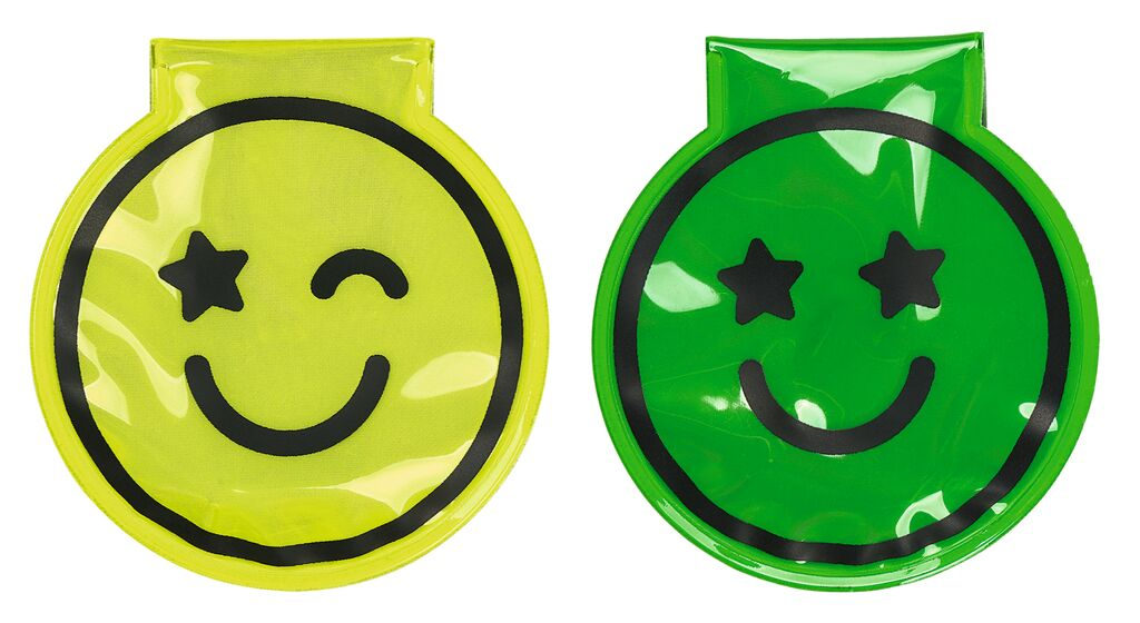 Magnet Clip mit LED Smile grün