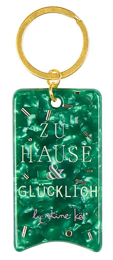 Papeterie Schlüsselanhänger Schnipselpoesie grün