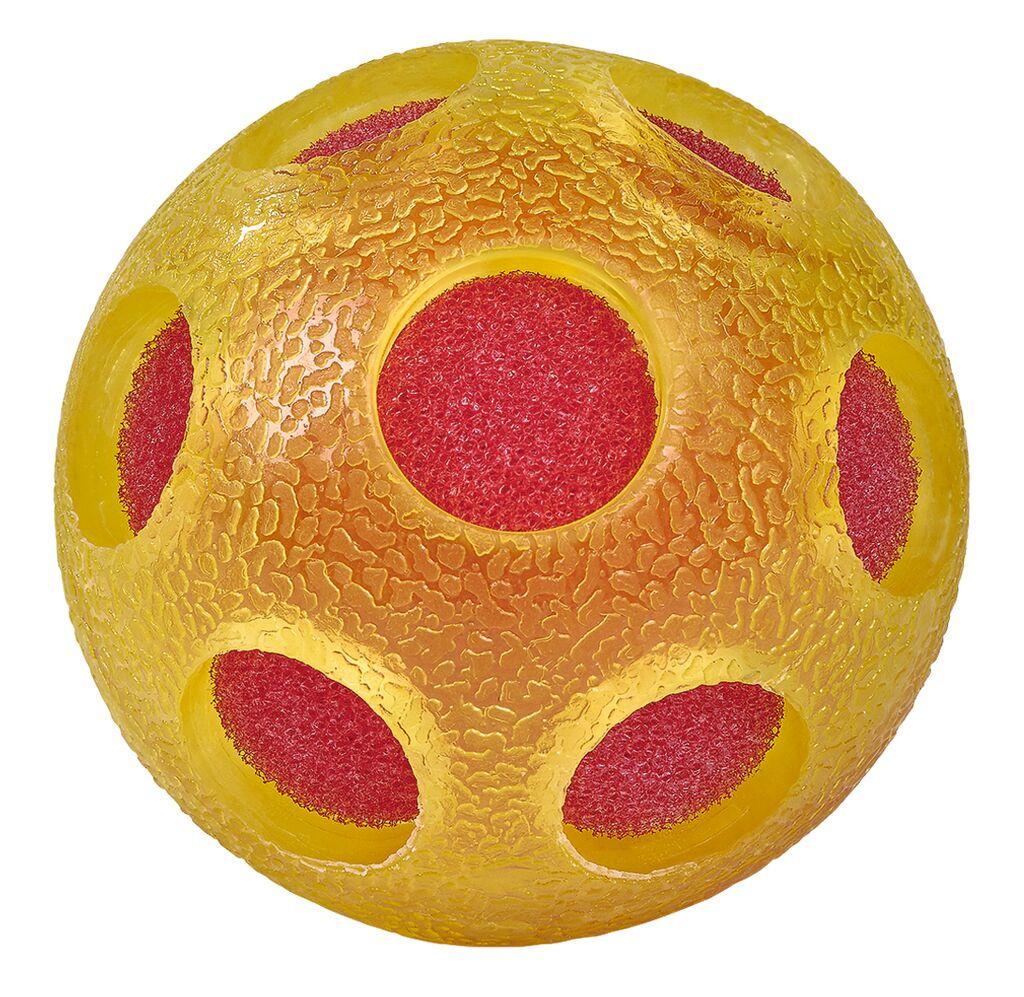 Bunter Schwamm-Ball gelb