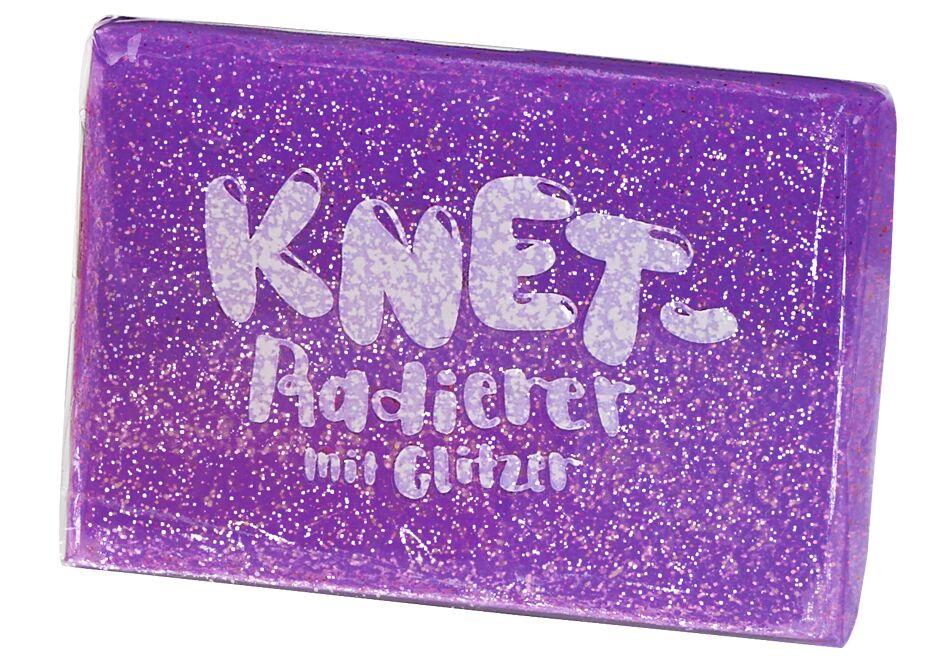 Knet-Radierer Glitzer violett