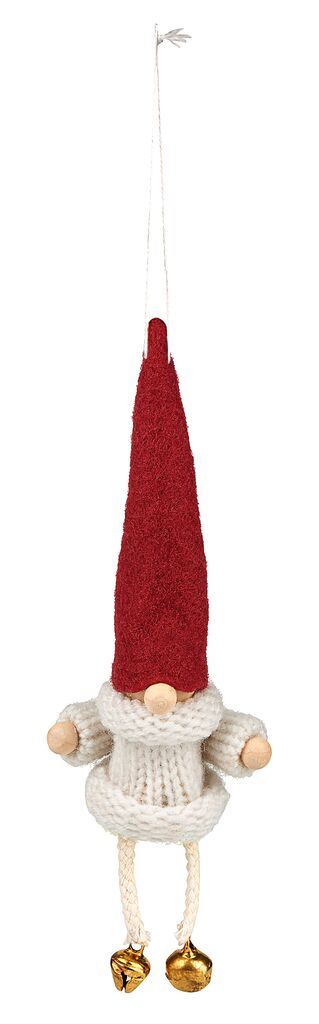 Anhänger Klingelnder Wichtel rot
