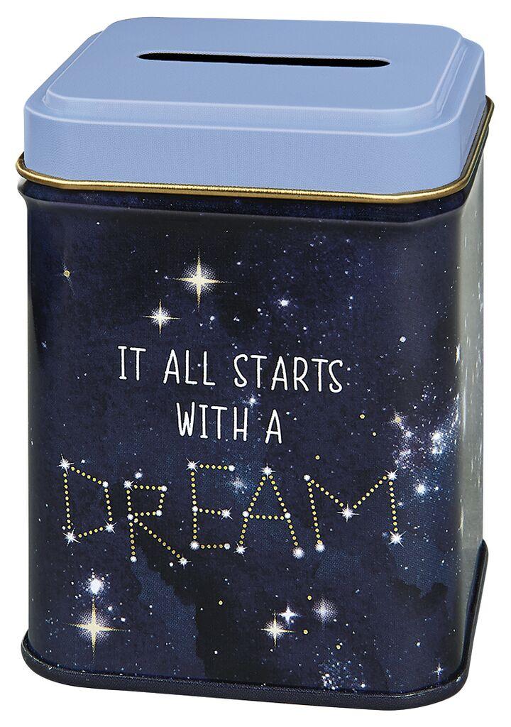 Geldbüchse it all starts with a dream