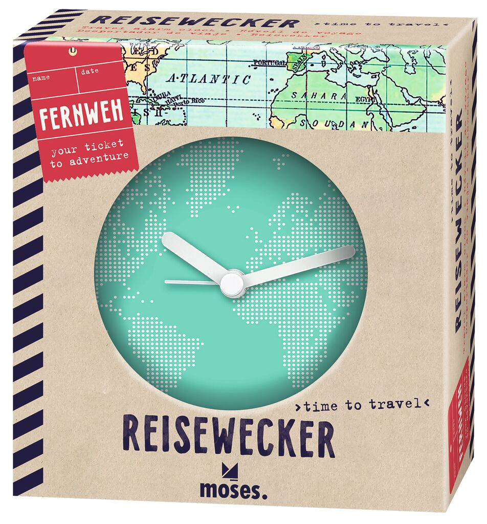 Fernweh Reisewecker Time to Travel