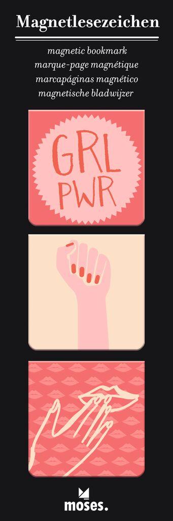 Magnetlesezeichen Girl Power